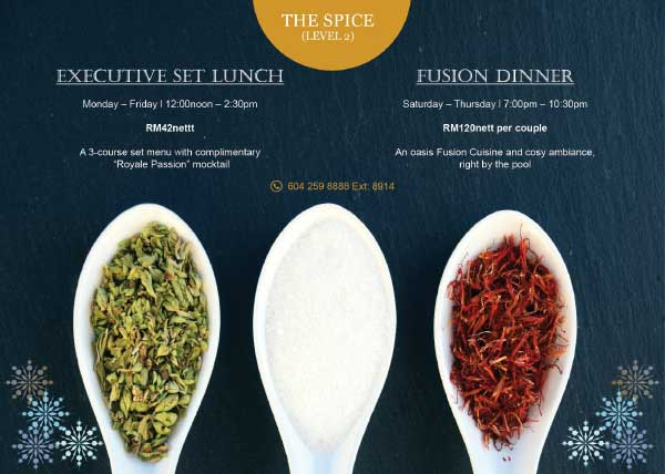 The Spice Executive Set Lunch