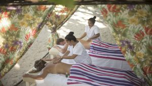 Tugawe Cove Resort in Caramoan, Camarines Sur, Philippines - Massage by the Beach