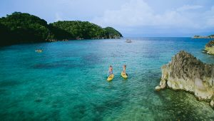 Tugawe Cove Resort in Caramoan, Camarines Sur, Philippines - Paddleboarding