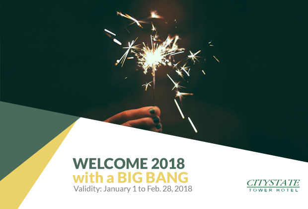 Citystate Tower Hotel in Manila, Philippines - Welcome 2018 with a Bang