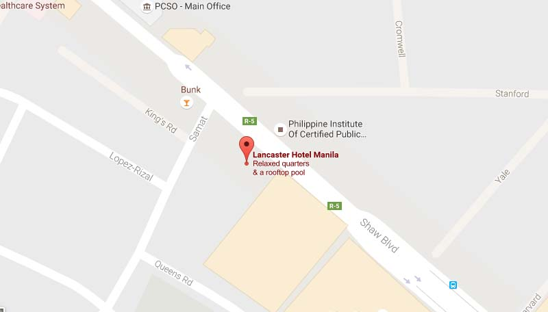 LANCASTER HOTEL MANILA in Mandaluyong City Philippines  Home