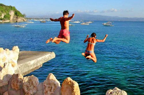 Cliff jumping West Cove