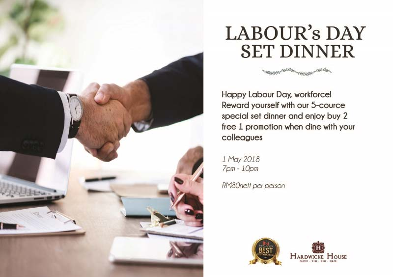 13 HH Labours Day Set Dinner