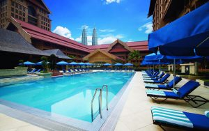 The Royale Chulan - View of the pool during daytime