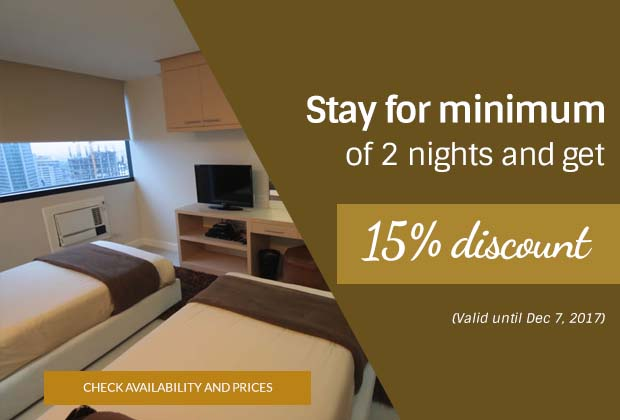 BSA Twin Towers in Mandaluyong City, Philippines - Stay for minimum of 2 nights