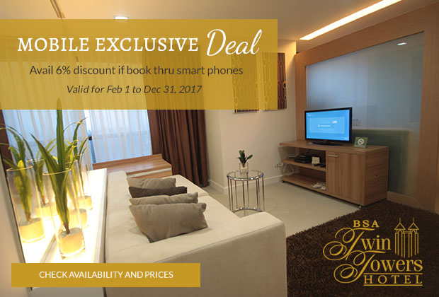 BSA Twin Towers in Mandaluyong City, Philippines - Mobile Exclusive Deal