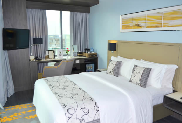 Deluxe rooms are inclusive of premium amenities and services.