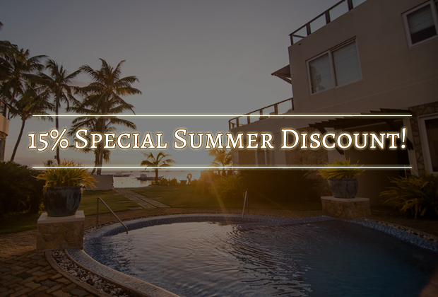 15% Special Summer Discount!