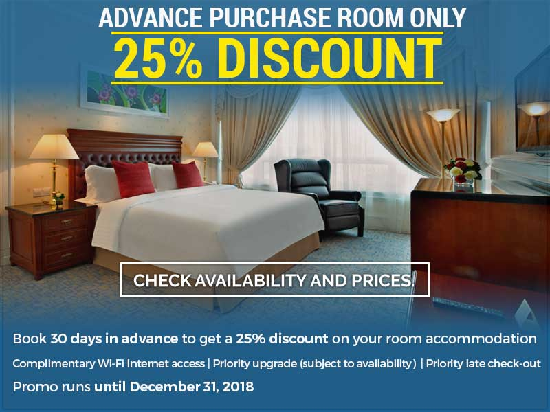 Advance Purchase 25% Discount Room Only