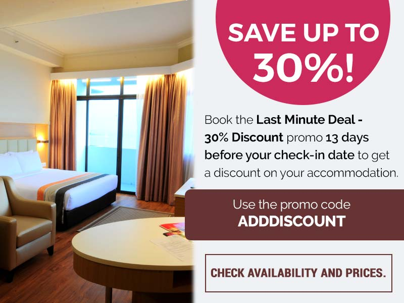 Last Minute Deal 30% Discount