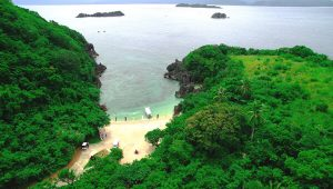Tugawe Cove Resort in Caramoan, Camarines Sur, Philippines - Aerial View of the Cove