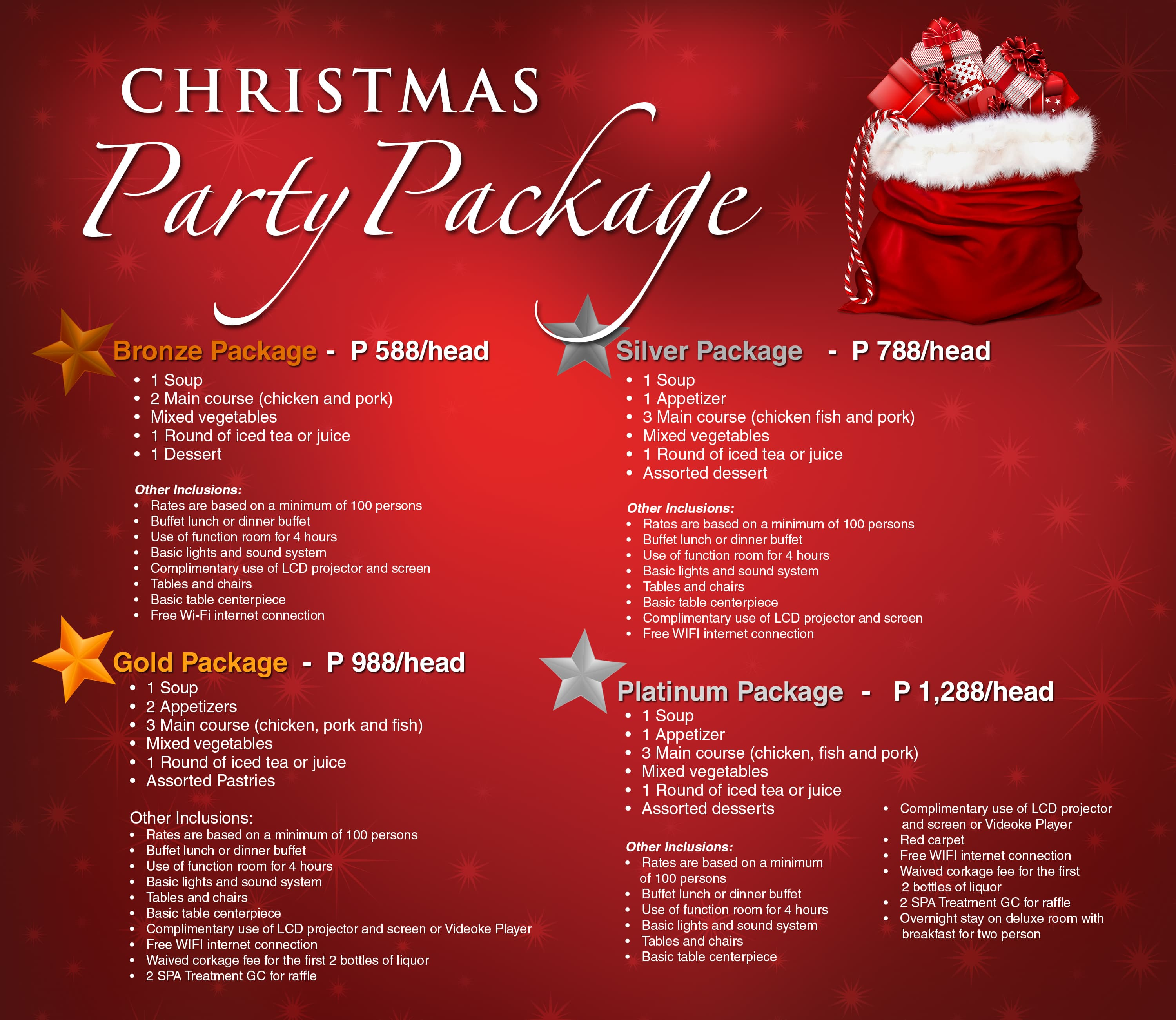 Christmas package - web banners
